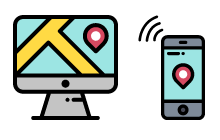 GPS機能で位置情報の共有
